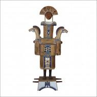 Guardián del silencio Madera policromada /  178 x 85 x 32 cm / 2010