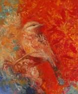 Rojo de los vientos  Técnica mixta sobre tela /  60 x 50 cm / 2014