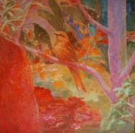 Ribera de luz  Técnica mixta sobre tela /  120 x 120 cm / 2012