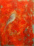 Pájaro de niebla  Técnica mixta sobre tela / 112 x 85 cm / 2014