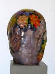 Mirada Interior Serie de esculturas de resina de polyester cristal pulida y técnica mixta / 2012