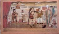 Exvoto imaginario de la cantante de bolerosTemple sobre tela / 122 x 188 cm / 2014