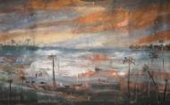 Tormenta en el Chaco o Pollock sobre López Temple sobre tela / 182 x 288 cm