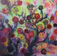RosasOleo sobre tela / 180 x 180 cm/ 2015