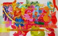 Sin título 3441 Acrílico sobre tela /  160 x 256 cm / 2013