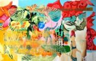 Sin título 3444 Acrílico sobre tela / 160 x 256 cm / 2013