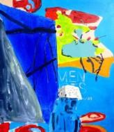 Sin título 3478 Acrílico sobre tela / 80 x 70 cm / 2014
