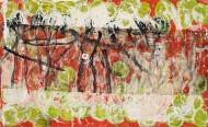 Sin título N° 3648 Técnica mixta / 217 x 130 cm / 2015