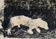 Sin título N° 3660 Técnica mixta / 266 x 183 cm / 2013