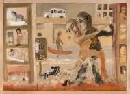 Tango de los inundados Temple sobre tela / 110 x 154 cm / 2013