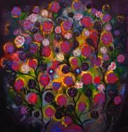 Un enorme y frondoso rosalOleo sobre tela / 150 x 150 cm / 2013