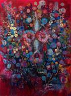 Vencerán las flores (Terribilita 7) Óleo sobre tela / 200 x 150 cm / 2014