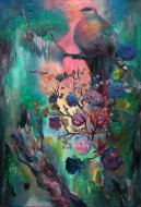 Ave del paraíso Óleo sobre tela / 90 x 75 cm / 2012