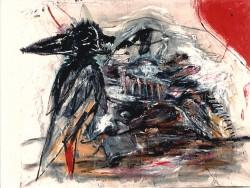 Caza de animalesTécnica mixta sobre tela / 160 x 190 cm / 1995