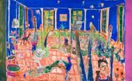 El jardín de FridaTécnica mixta sobre tela / 340 x 194 cm / 2012