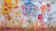 El jardín de los pintores II Técnica mixta sobre tela / 340 x 194 cm /  2012
