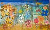 El jardín de los pintores Técnica mixta sobre tela /  148 x 240 cm / 2011-12