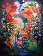 El paseo Óleo sobre tela / 200 x 150 cm / 2012