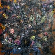 Enramados o pichones Óleo sobre tela / 150 x 150 cm / 2012