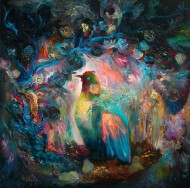 Esmeralda Óleo sobre tela / 120 x 120 cm / 2011
