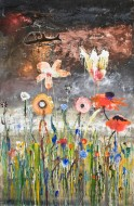 Garden nights in the Malvinas Islands Técnica mixta sobre tela / 250 x 180 cm / 2012