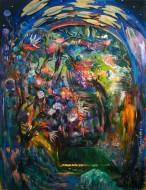 Jardín secreto Óleo sobre tela / 200 x 150 cm / 2012