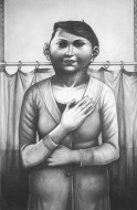 La maga Grafito sobre papel / 130 x 85 cm / 1997