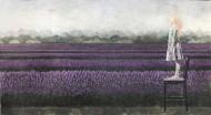 Luna y las lavandas Técnica mixta sobre tela / 400 x 185 cm / 2012