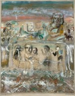 Palimpsesto Temple sobre tela / 90 x 154 cm / 2000