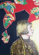 Retatos del espíritu del tiempo II Acrílico sobre tela / 150 x 110 cm / 2010