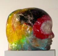 Mirada Interior I Serie de esculturas de resina de polyester cristal pulida y técnica mixta / 2012