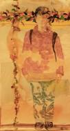 Serie newyorker II Técnica mixta sobre papel de acuarela / 97 x 184 cm / 2008
