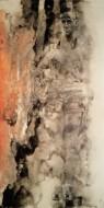 Serie newyorkers bailarina en su descanso Técnica mixta sobre papel de acuarela / 97 x 184 cm / 2009