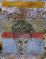Serie sagrada familia ruth Técnica mixta sobre papel de acuarela / 200 x 260 cm / 2007