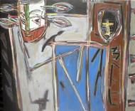 Sin título II Técnica mixta sobre tela / 85 x 70 cm / 1987-1989