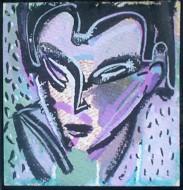 Rostro Técnica mixta sobre cartón /  17 x 17 cm / 2009