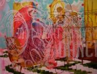 Sin título 3399 Acrílico sobre tela / 150 x 185 cm / 2012