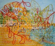Sin título 3403 Acrílico sobre tela / 150 x 185 cm / 2012