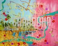 Sin título 3408 Acrílico sobre tela / 150 x 185 cm / 2012