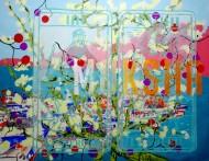 Sin título 3414 Acrílico sobre tela / 150 x 185 cm / 2012