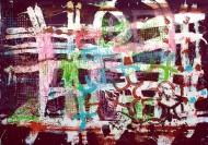 Sin título 3455Técnica mixta sobre tela / 180 x 395 cm / 2013