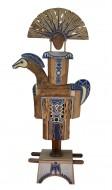 Guardián de silencio  Madera policromada / 80 x 60 x 18 cm / 2000