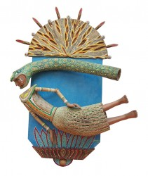 Mamá cocha  Madera policromada / 90 x 50 x 12 cm / 2001