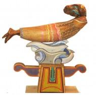 Mujer voland Madera policromada / 56 x 50 x 17 cm / 2000