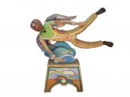 Vuelo asistido Madera policromada / 50 x 70 x 20 cm / 2000