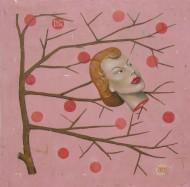 La cabeza sin mujer  Acrílico sobre lienzo / 150 x 150 cm / 2008