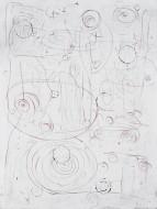 Gravedad 3 Acrílico, crayón y óleo pastel sobre lienzo / 200 x 150 cm / 2012