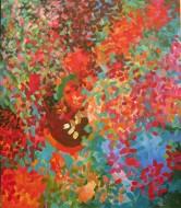 Tres lunas Acrylic paint on canvas / 160 x 139 cm/ 2016