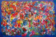 Fantasia del caminante 1  Acrílico sobre tela 110 x 170 cm  / 2016