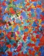 Jardín azul Acrílico sobre tela / 115 x 90 cm / 2016